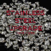 Upgrade to stainless steel for one ring or pendant. Provides added durability and will add years of life to your jewelry.