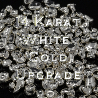 Upgrade to 14 karat white gold from sterling silver.